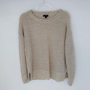 J Crew Crewneck Beach Sweater Sz M
